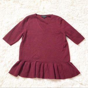 ANN TAYLOR Peplum Knit Top